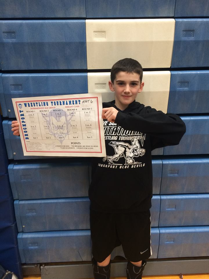 Danny Riorden (Slingshot) Gets his 100th win at The Brockport Wrestling Tournament