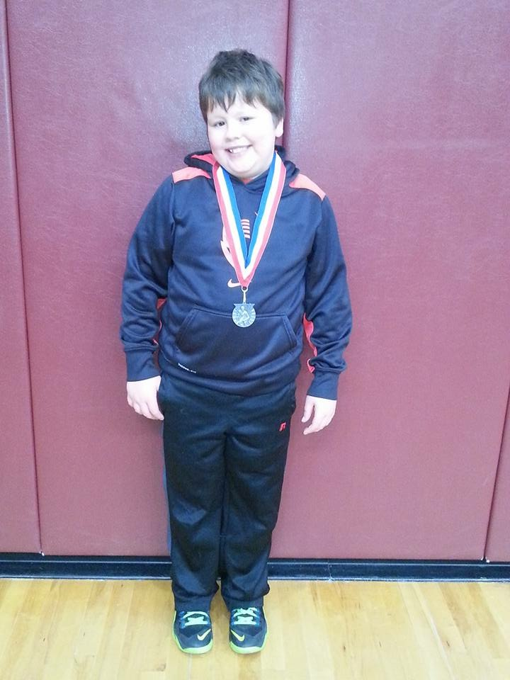 Ethan House (Hornell) Gets his 100th win at the Hornell/Avoca Youth Wrestling Tournament