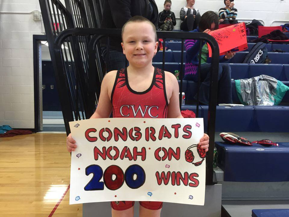 Noah Morlock (CWC) Gets his 200th win at The CLV Youth Wrestling Tournament