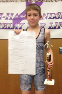 Riley Walker (Inferno) Gets his 100th win at the Bath Youth Wrestling Tournament